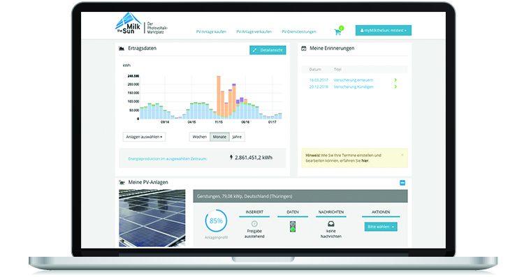 myMilktheSun – Efficient Photovoltaic Management for Operators and Investors