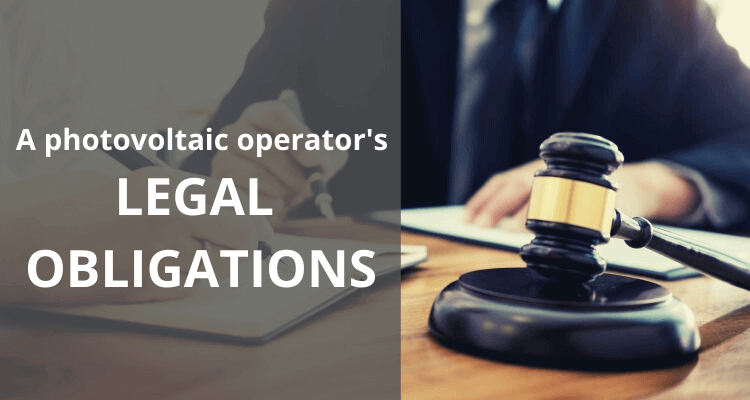 Legal Obligations For PV System Operators: An Overview